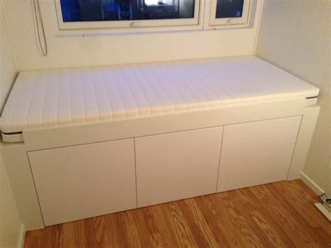 ikea hack twin bed with storage hers ikea and out door on pinterest