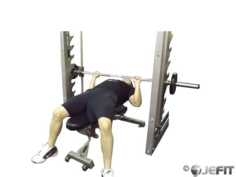bench press with smith machine smith machine bench press exercise database jefit best android and iphone