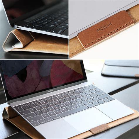 Macbook Semarang rock leather smart sleeve bag stand hold for macbook pro 13 inch black jakartanotebook