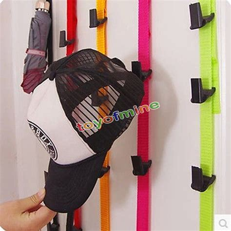 caprack 8 baseball cap hat holder rack organizer storage