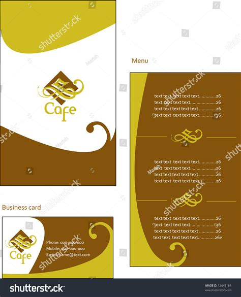 menu card design template vector free template designs european menu business card stock vector