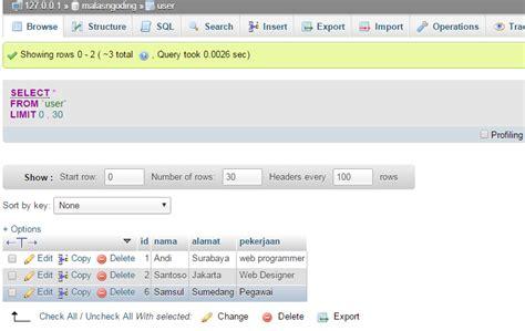 membuat web dengan php murni membuat crud dengan php dan mysql menilkan data