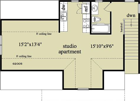 floor plans with detached garage 1 bedroom 1 bath country house plan alp 096u