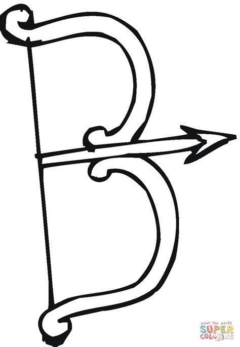 coloring page of bow and arrow letter b is for a bow coloring page free printable