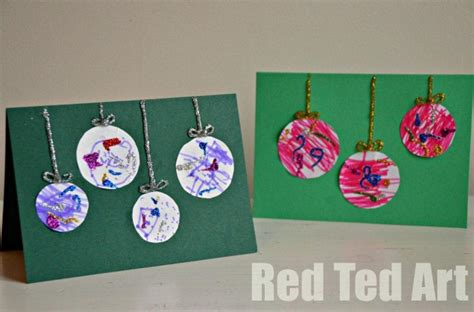 christmas card ideas for kids red ted art s blog