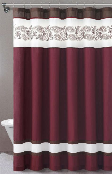 sears fabric shower curtains essential home isabelle fabric shower curtain