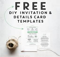Free Templates Wedding Invitations Printable