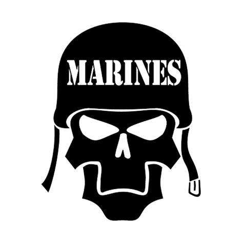 College Football Aufkleber Auf Helm by Marines Skull Die Cut Vinyl Decal Pv961