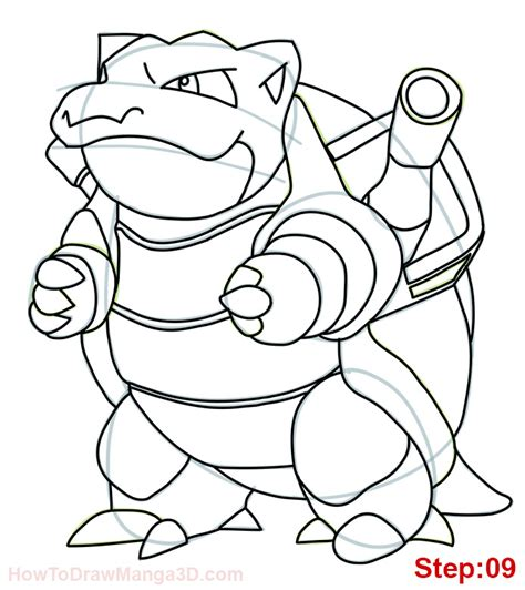pokemon coloring pages wartortle how to draw blastoise pokemon mangajam com