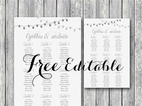 free editable wedding seating chart template printable