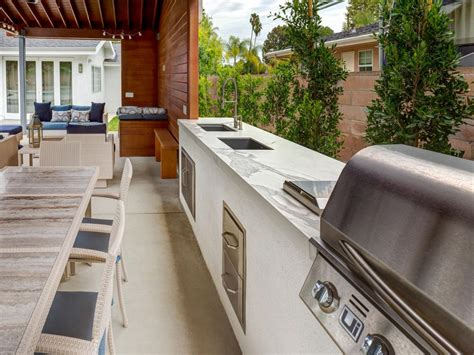 outdoor kitchen countertop ideas 13 outdoor kitchen countertop options landscaping ideas and hardscape design hgtv