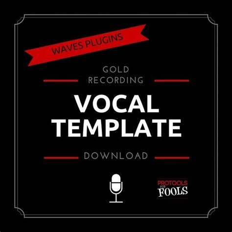Pro Tools For Fools Waves Plugins Vocal Template 17 99 Easy Pro Tools Vocal Recording Template