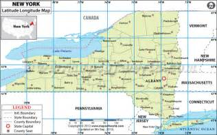 us map with cities and latitude and longitude new york city latitude and longitude map new york map