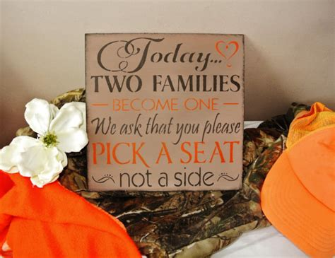 Camo Wedding Decor by Camo Wedding Decor Sign Today Two Families Become One
