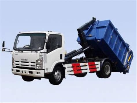 Arm Roll Hook Lift Truck new style 8tons npr isuzu hook lift garbage truck