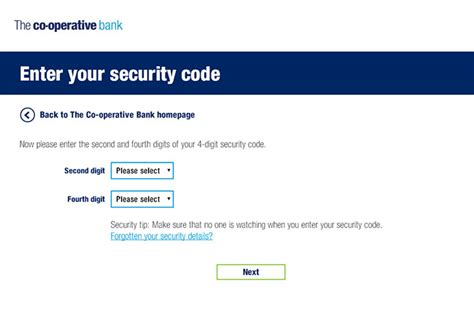 The Co Operative Bank Banking Demo
