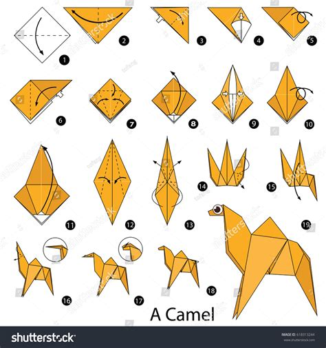 How To Make A Camel Out Of Paper - camel origami gallery craft decoration ideas