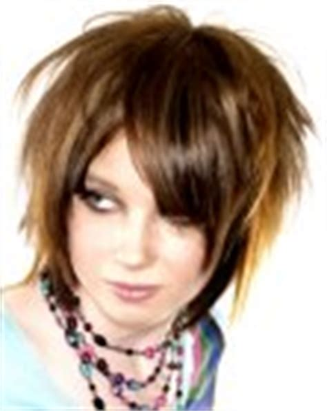 wild spiky hairstyles medium length bicolor hair with bangs and spiky layers