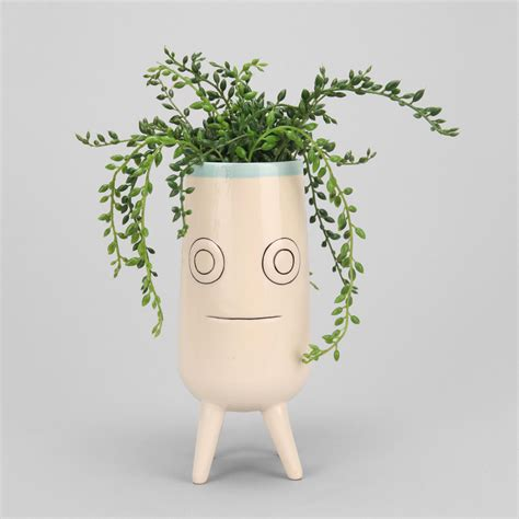 face planters ceramic face planter the green head