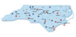 airports carolina map infrastructure economic development partnership of