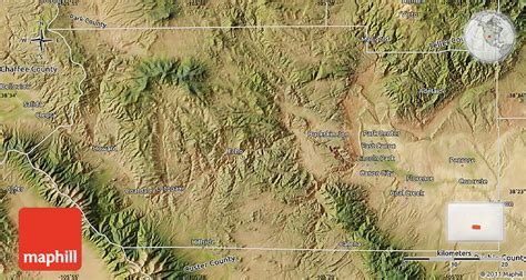 satellite map of colorado satellite map of fremont county