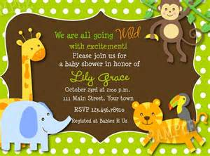baby shower invitations safari jungle theme baby shower invitations city jungle