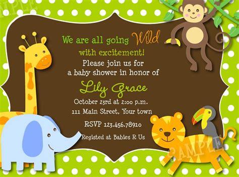 Jungle Safari Theme Baby Shower by Baby Shower Invitations Safari Jungle Theme Baby