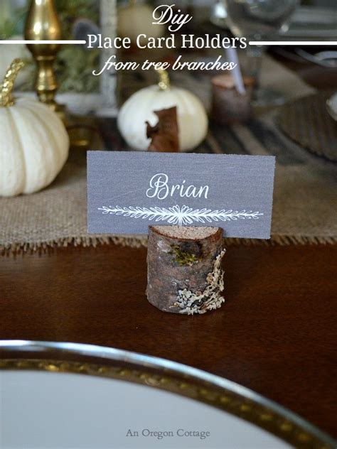 diy place card holders diy wood place card holders from tree branches