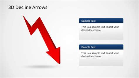 3d Decline Arrows Template For Powerpoint Slidemodel Arrows For Powerpoint Presentations
