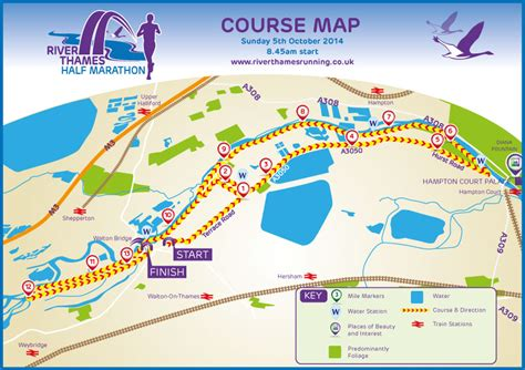River Thames Course Map | river thames running river thames half marathon course map