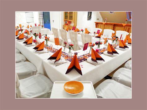 tischdeko orange stuhlhussenverleih tischdeko hochzeitsdeko