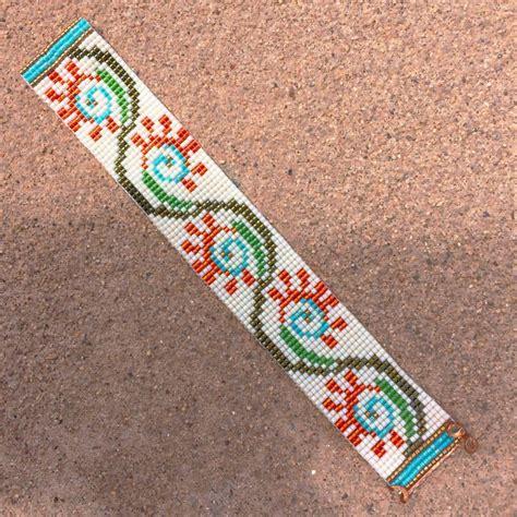 loom beading flora bead loom bracelet artisanal jewelry by
