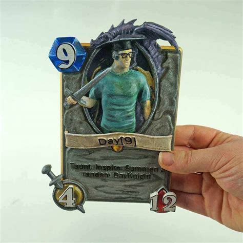 hearthstone gold card template diy hearthstone card 9 best hearthstone cards to 3d print