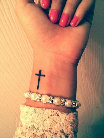 ideas  cross tattoo wrist  pinterest cross tattoos cross tattoo  wrist  tattoos