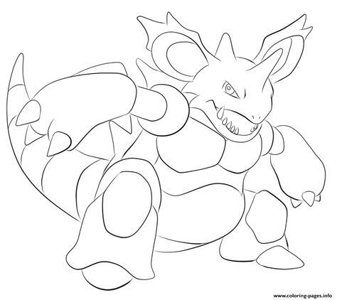 pokemon coloring pages nidoking 034 nidoking pokemon coloring pages printable