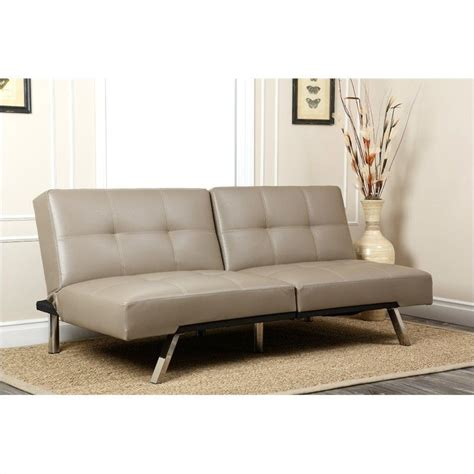 sofa jakarta abbyson living jakarta leather convertible sofa in gray