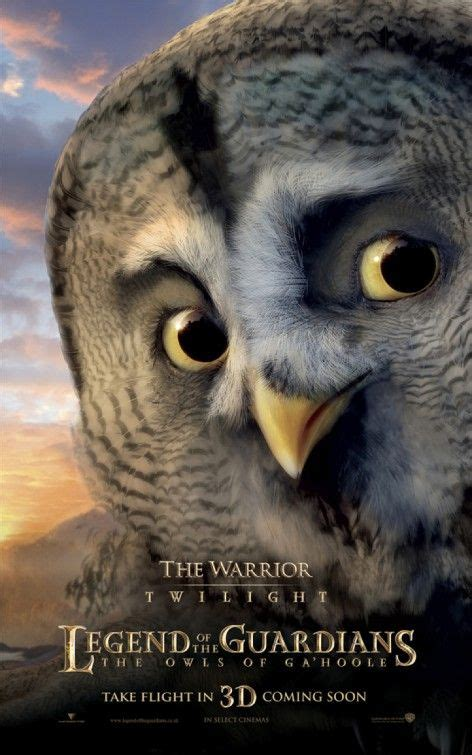 Owl Guardian eight character posters for legend of the guardians the