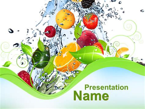 Summer Fruits Presentation Template For Powerpoint And Keynote Ppt Star Vegetarian Presentation Template