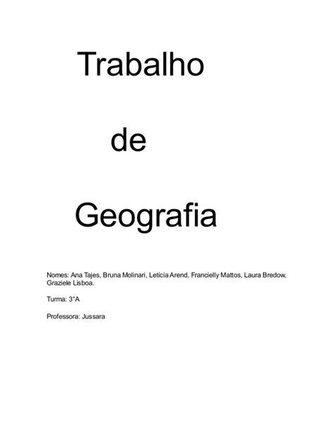 trabalho de geografia 1 638 - Geografia