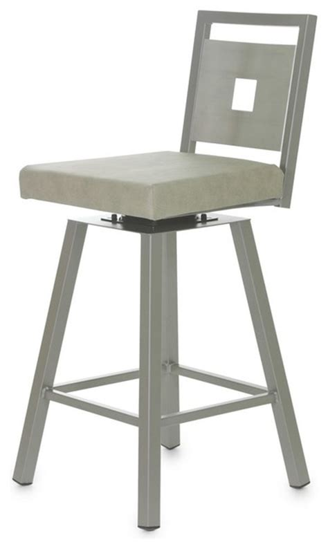 Stainless Steel Counter Stools With Backs by Amisco Jackson Swivel Stool With Stainless Steel Backrest