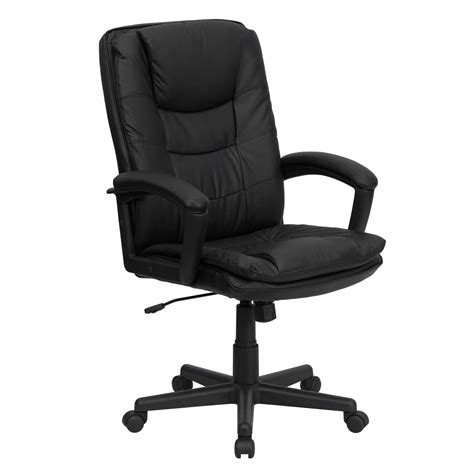 Black Leather Office Chair by High Back Black Leather Executive Swivel Office Chair Bt