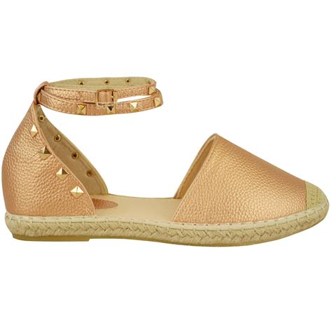 summer flats shoes womens espadrilles ankle strappy flat summer