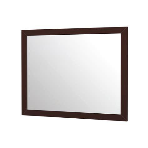 espresso bathroom mirrors accara bathroom mirror 40 quot espresso free shipping modern bathroom