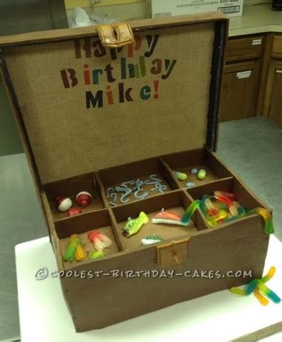 Wedding Tackle Box by Coolest Fishing Cakes