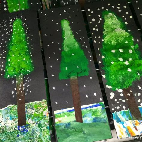 christmas gift drawing elementary school 2nd 3rd 4th winter alpine trees elementary editor beautiful and paper