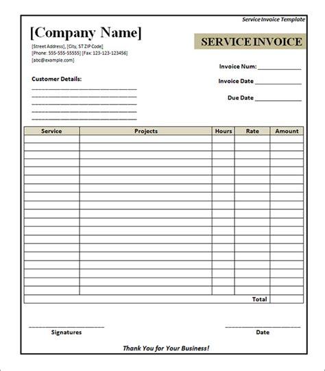 invoice template free printable service invoice 34 documents in pdf word