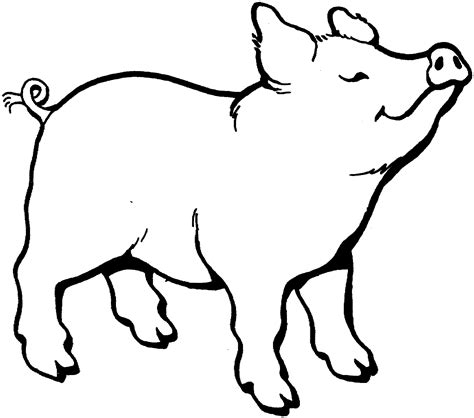 pig smells something coloring page gif 1500 215 1323