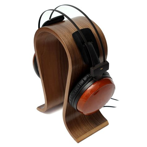 ele solid wooden gaming headset earphone headphone stand