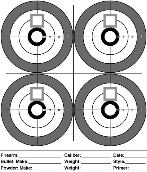 printable sniper zero targets printable targets for shooting practice midway pistol