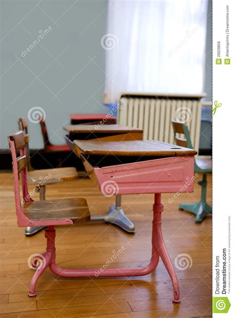 Old Fashioned Student Desks Royalty Free Stock Photos Fashioned Student Desk